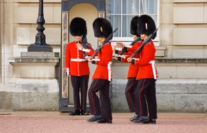 Guards at Buckingham Palace photographed by an Antler Languages student