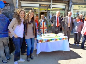 Spanish students at Oundle Farmers Market