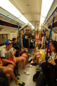 Antler Languages students on The Tube in London