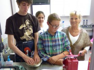 Antler Languages students having a cookery lesson
