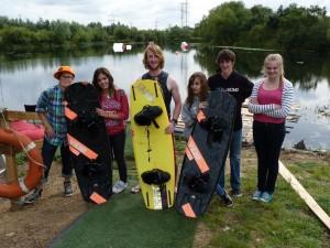 Antler Languages students at Club Wakepark, Grendon Lakes