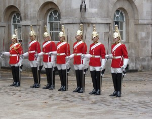 Guards in the Household Cavalry, London