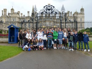 Antler Languages study group at Burghley House, Stamford