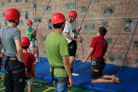 Antler Languages students climbing at Oundle School