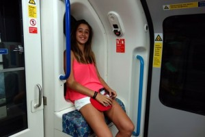 Spanish student on the Tube in London