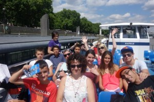 Antler Languages study group on a cruise on the River Thames