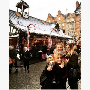 Au pairs at a Christmas Market